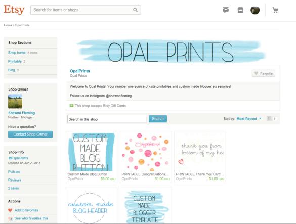 opal prints